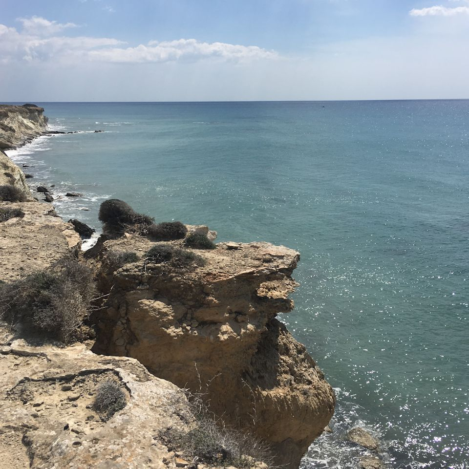 beautiful landscape, traveling the coast of cyprus