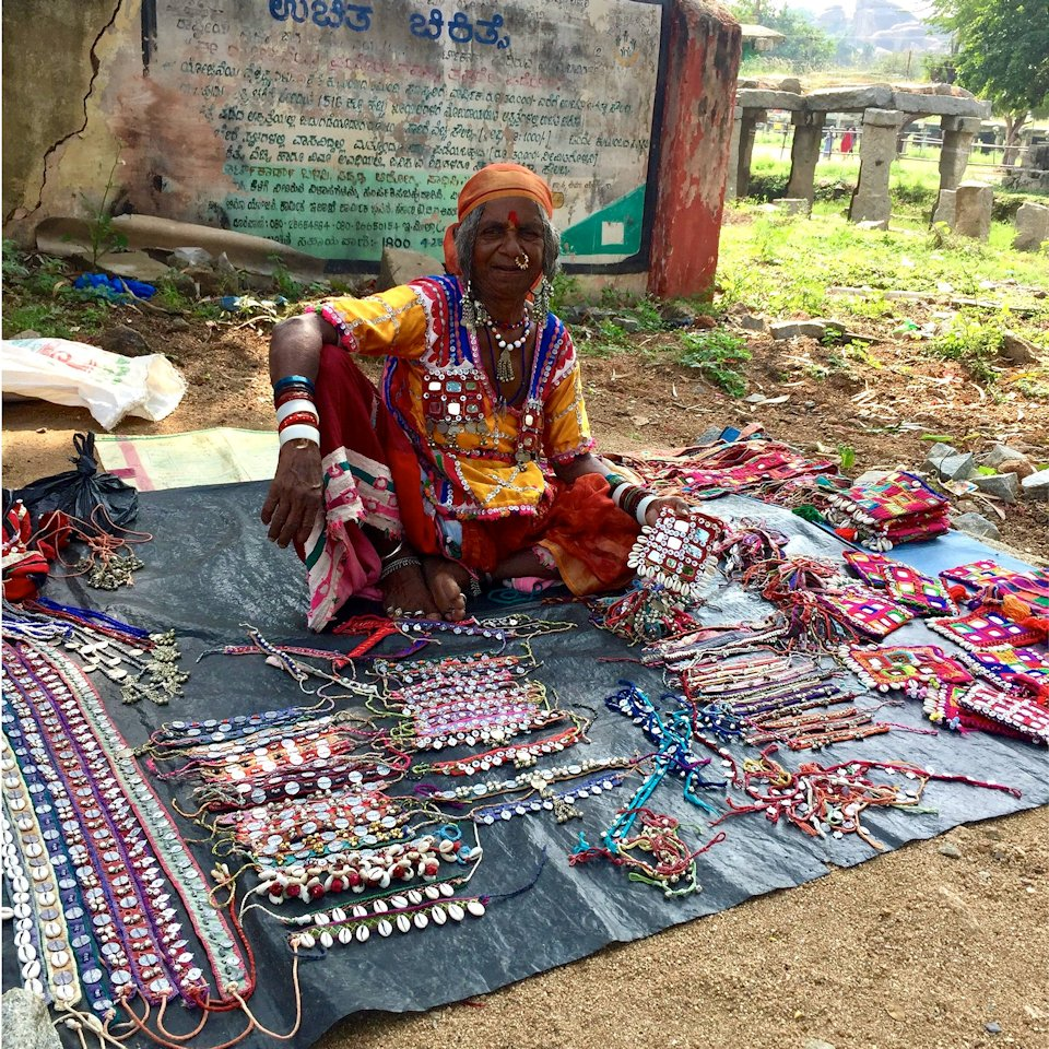 woman seller in india