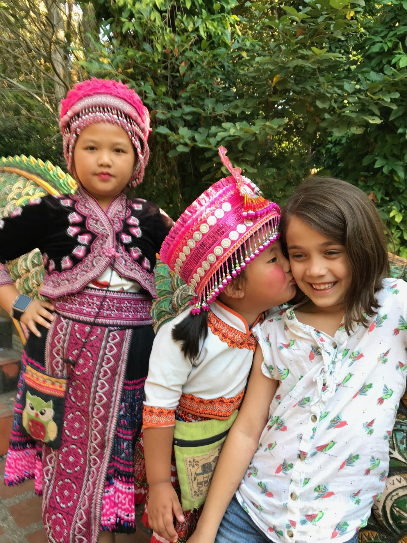 children learn and experience different cultures while traveling