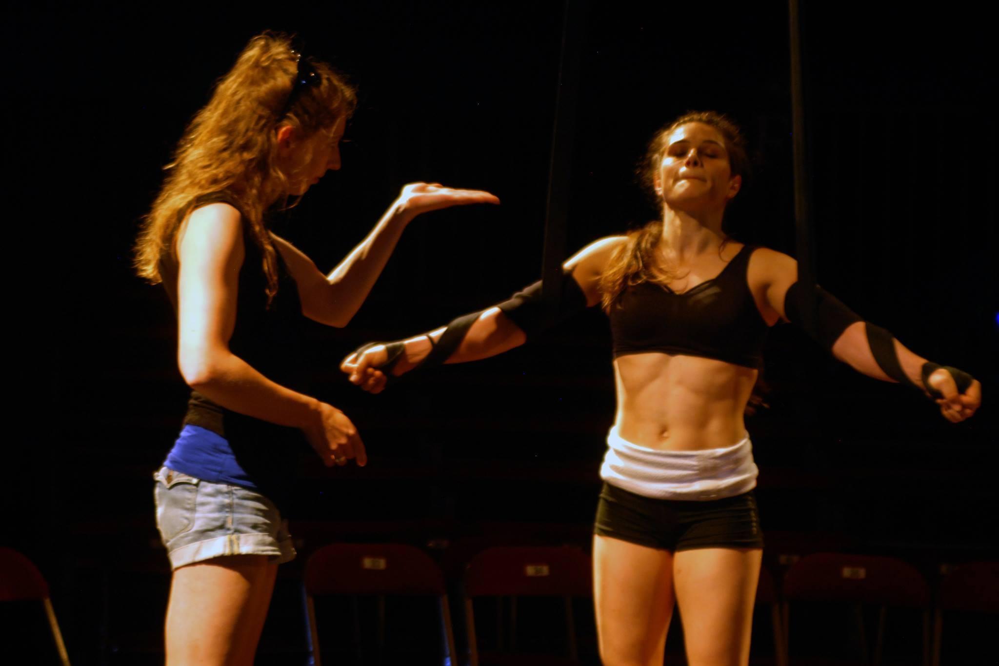 Mara-Charlotte-training-straps-together